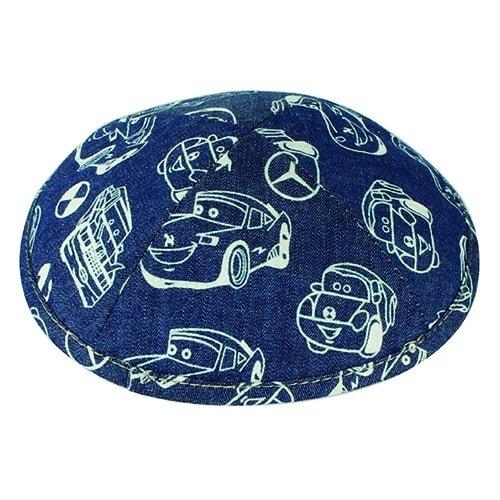 , Cloth Flat Kippah – with Print, Jewish.Shop