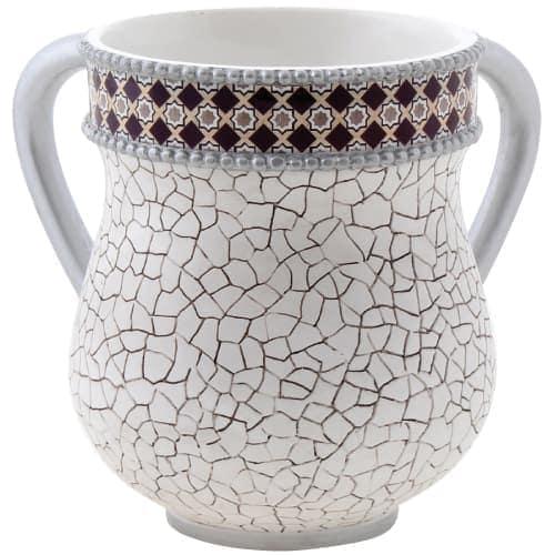 , Natlah: Elegant Polyresin Natlah 13.5cm- White, Jewish.Shop