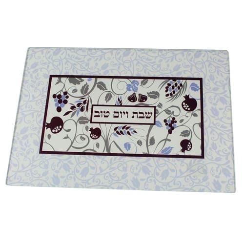 , Challah Board – Non-breaking glass, Jewish.Shop