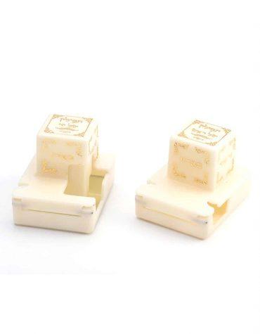 plastic tefillin ivory