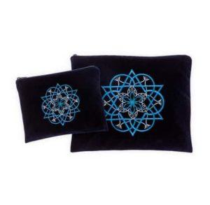 talit tefilin cover blue velvet blue star of david