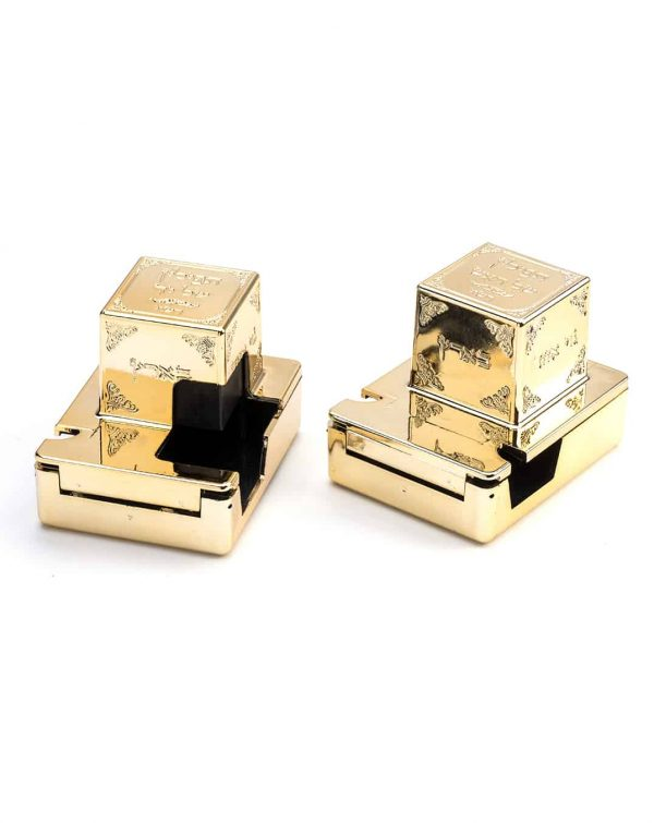 , Tefillin Boxes – Gold Colored, Jewish.Shop