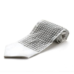 Atara for tallit plastic Squares rows Silver Colored