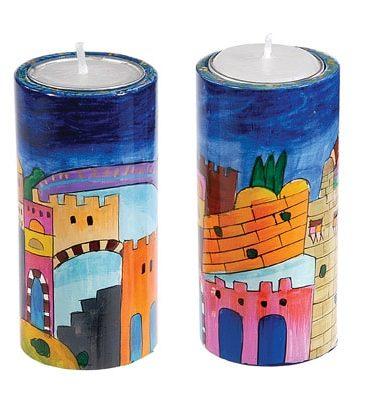 Big Round Candlesticks Jerusalem