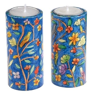 , Oriental Sabbath Candlesticks, Jewish.Shop