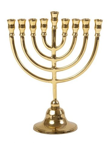 Classical Menorah made of copper
