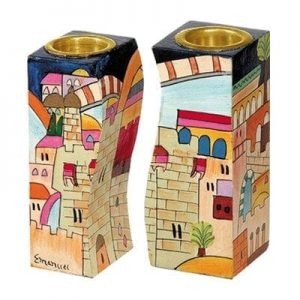 Fitted Candlesticks Jerusalem Multicolor