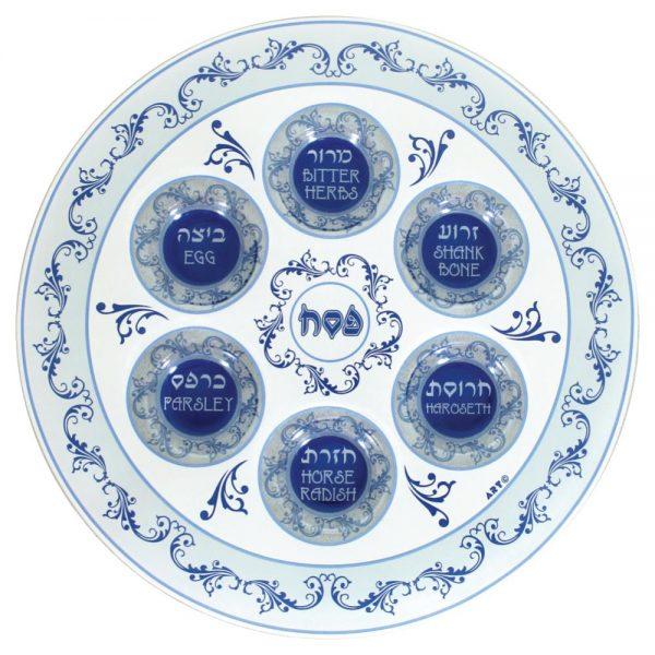 , Glass Seder Plate – 33cm, Jewish.Shop