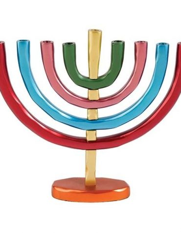 Hanukkah Menorah Branches Multicolor