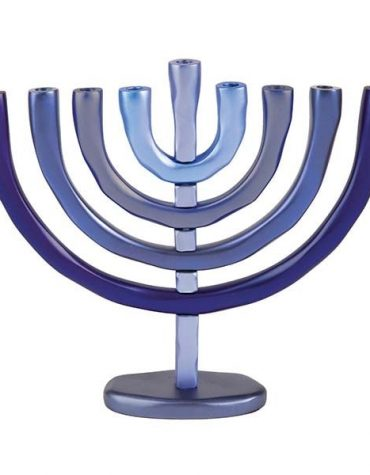 Hanukkah Menorah Blue by Yair Emanuel