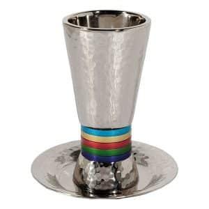 Kiddush Cup Wide Rings Multicolor