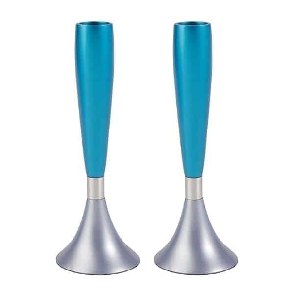 ", Candlesticks For Shabbat ""Turquoise"", Jewish.Shop"