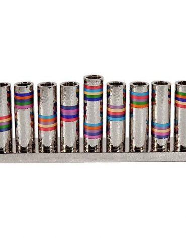 Menorah Rainbow Rings
