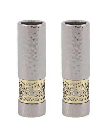 Modern Candlesticks For Shabbat Rimonim
