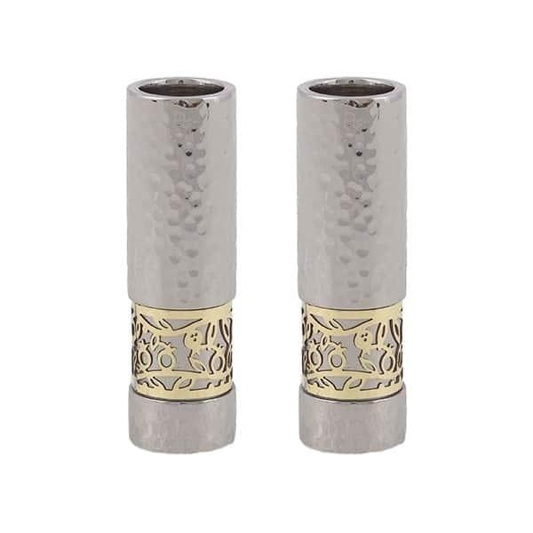 ", Modern Candlesticks For Shabbat ""Rimonim"", Jewish.Shop"