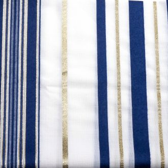Tallit with Blue & Gold Stripes (Wool) 1