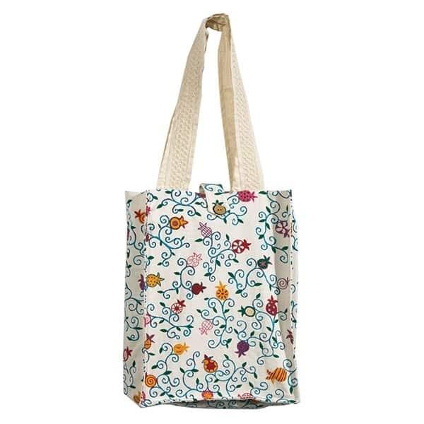 , Book Bag – Colorful Pomegranates, Jewish.Shop