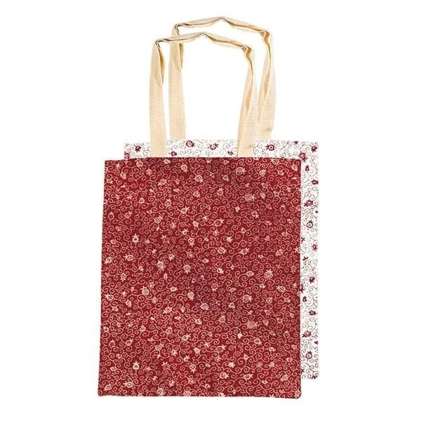 , Simple bookbag – pomegranate – red and white, Jewish.Shop