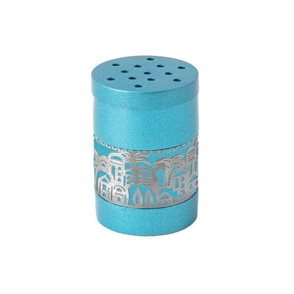 """, Havdalah Besamim – Spice Box –""""Jerusalem built"""" – turquoise, Jewish.Shop"""
