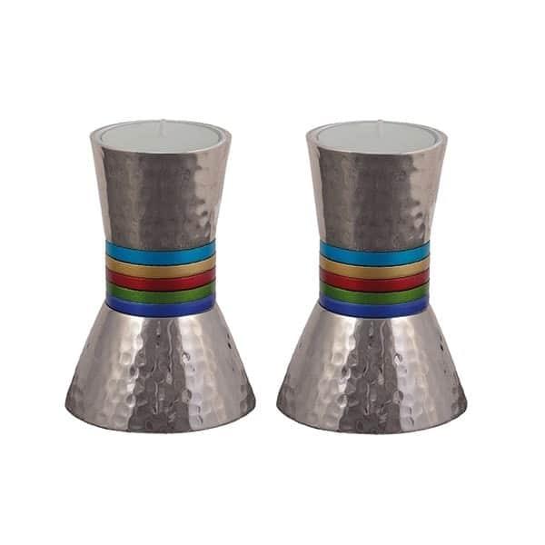 ", Shabbat candlesticks ""little rings"" – colorful, Jewish.Shop"