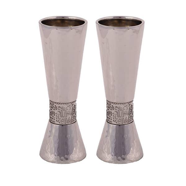 ", Shabbat Candlesticks ""Torch"" – Jerusalem and Matte silver, Jewish.Shop"