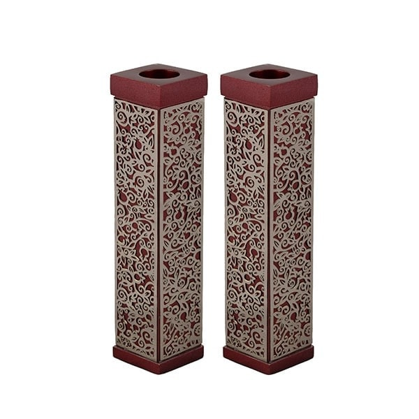""", Shabbat Candlesticks """"Skyscraper"""" – Bordeaux, Jewish.Shop"""