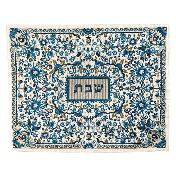 , Challah Cover – Full Painting – Blue, Jewish.Shop