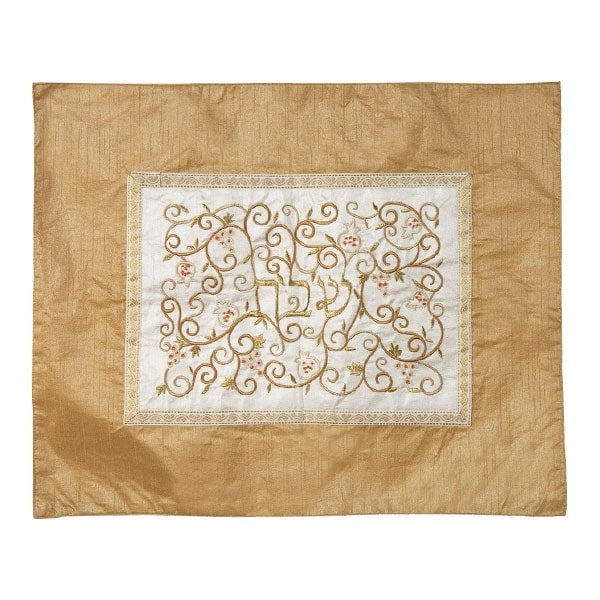 """, Challah Cover """"Shabbat in the center"""" – blue and white, Jewish.Shop"""