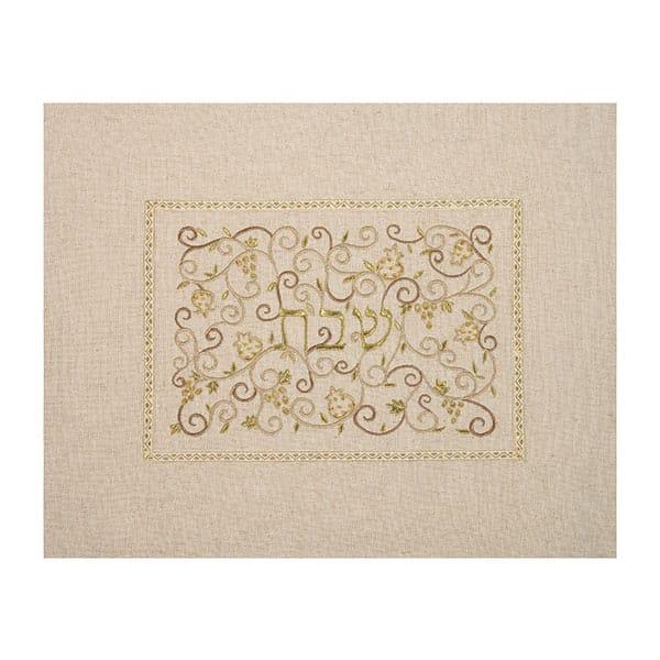", Challah Cover ""Shabbat in the center"" – linen, Jewish.Shop"