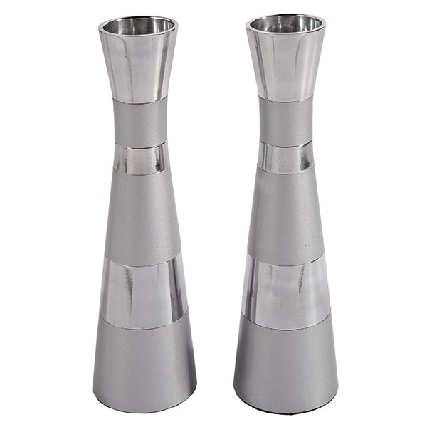""", Candlestick """"One and Special"""" for Candle T-Light – Aluminum matte, Jewish.Shop"""