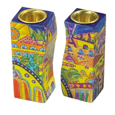 ", Shabbat Candlesticks ""Unity"" – Jerusalem Oriental, Jewish.Shop"