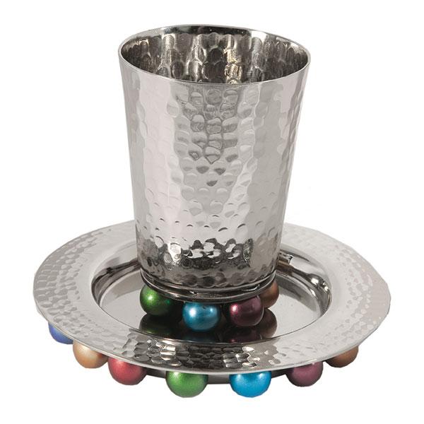 ", Kiddush Cup ""on balls"" – colorful, Jewish.Shop"