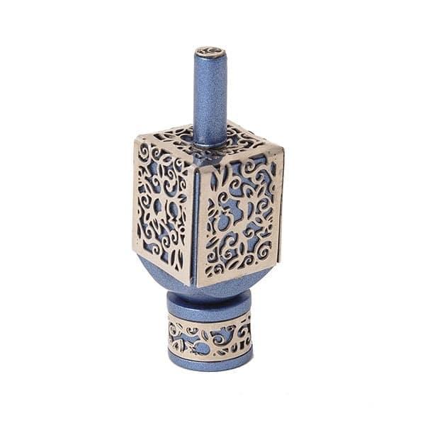 , Small Dreidel – Blue – Pomegranate s, Jewish.Shop