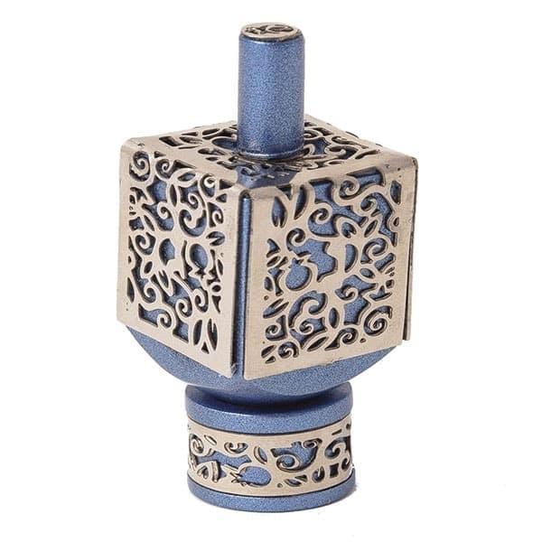 , Medium  Dreidel – Blue – Pomegranate s, Jewish.Shop