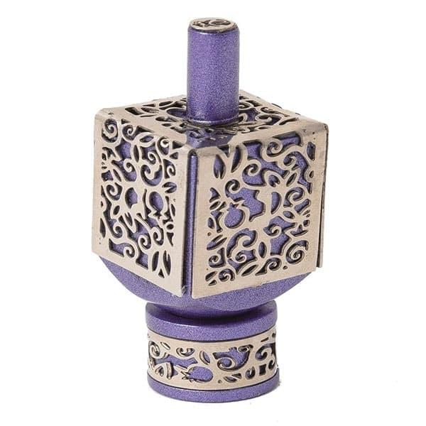 , Medium  Dreidel – Purple – Pomegranate s, Jewish.Shop