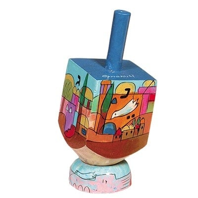, Small Dreidel (NGHS) – Jerusalem, Jewish.Shop