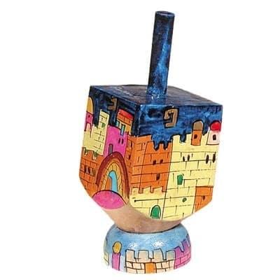 , Small Dreidel (NGHS) – Jerusalem, Jewish.Shop
