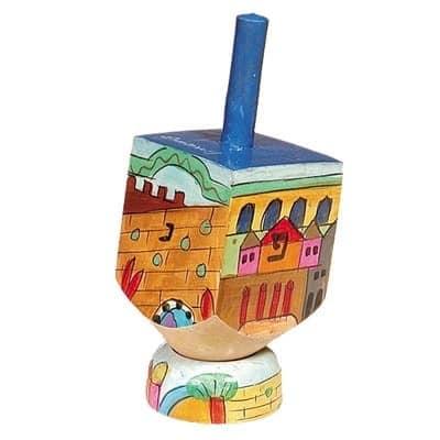 , Small Dreidel (NGHP) – Jerusalem, Jewish.Shop