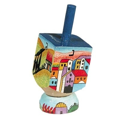 , Small Dreidel (NGHP) – View of Jerusalem, Jewish.Shop