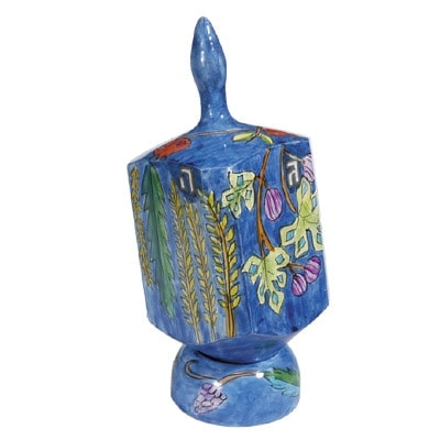 , XL Dreidel (NGHP) – Seven Species, Jewish.Shop