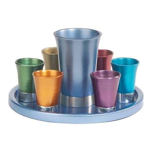 , Kiddush Fountain set – colorful, Jewish.Shop