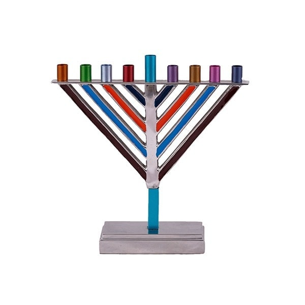 , Small Triangle Menorah – Colorful, Jewish.Shop