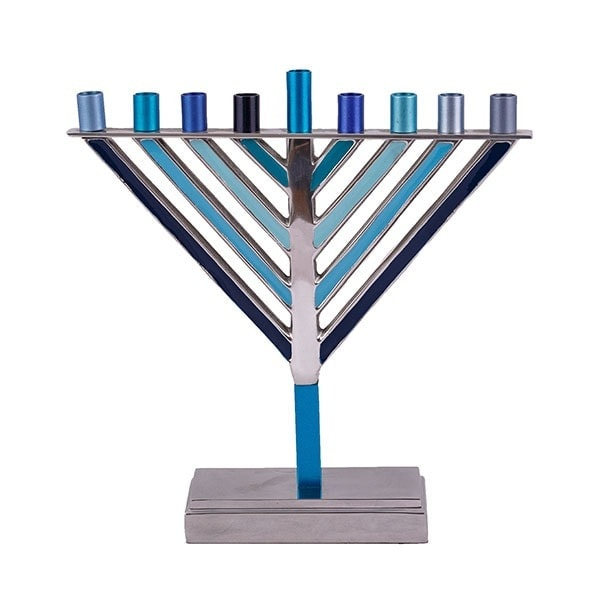 , Triangle Menorah – Blue, Jewish.Shop