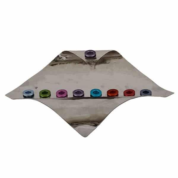 , Hanukka menorah – flag – color, Jewish.Shop