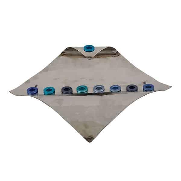 , Hanukka menorah – flag – blue, Jewish.Shop