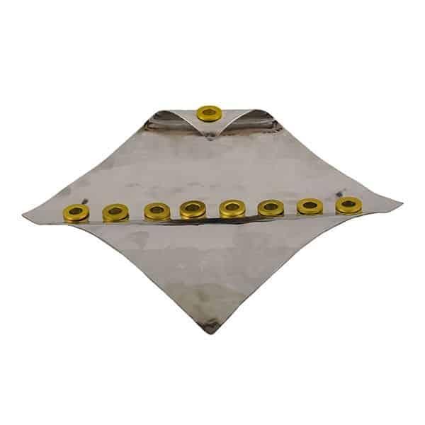 , Hanukka menorah – flag – Copper, Jewish.Shop