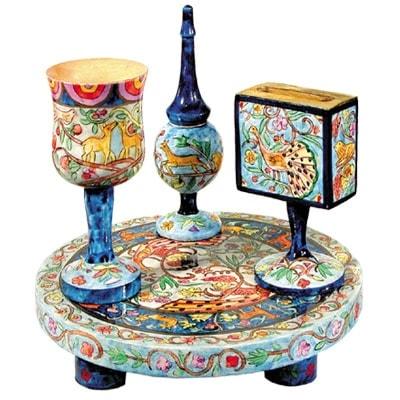 ", Havdalah set ""Painting on wood"" – Oriental, Jewish.Shop"
