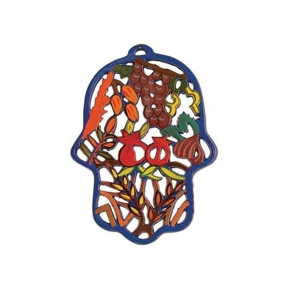 , Colorful 'Hamsa' wall decoration – Seven Species, Jewish.Shop