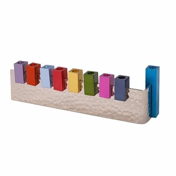 , Hanukka menorah – The sixth letter – colored, Jewish.Shop