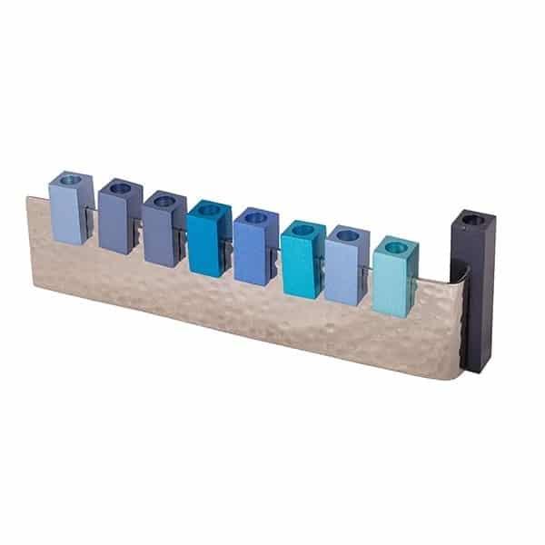 , Hanukka menorah – The sixth letter – blue, Jewish.Shop